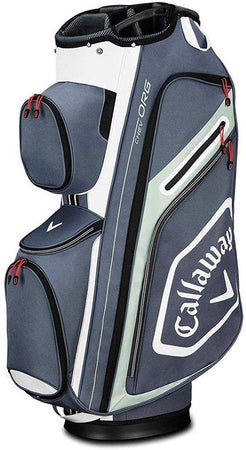 Callaway Golf Chev Org Cart Bag - Titanium/White/Silver - Golf Country Online