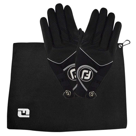 Footjoy Raingrip Rainy Day Bonus Pack (Fj) Raingrip Gloves + Rain Towel) - Golf Gloves