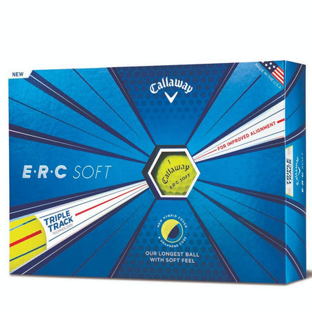 Callaway Golf ERC Soft Triple Track Golf Balls, (One Dozen), Yellow - Golf Country Online