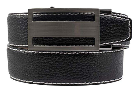 Nexbelt Classic Colour Pitch Black V.3 Strap Belt with Gunmetal Finish - BLACK