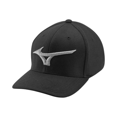 Mizuno Tour Performance Fitted (OSFA) Golf Hat, Black/Gray - Golf Country Online
