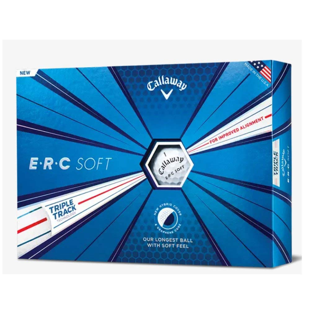 Callaway Golf ERC Soft Triple Track Golf Balls, (One Dozen), White