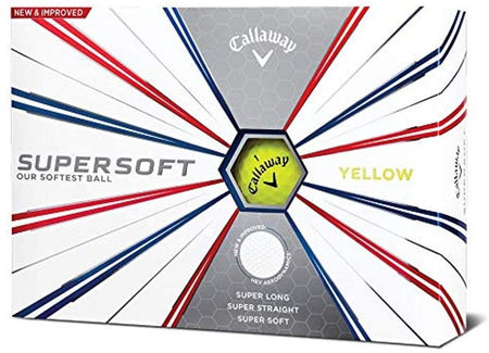 Callaway Golf Supersoft Yellow Golf Balls (One Dozen) - Golf Country Online
