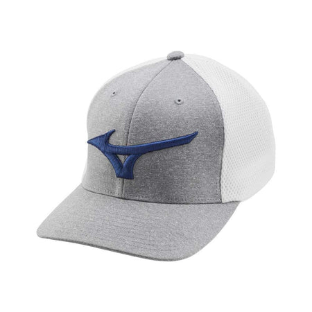 Mizuno Fitted (OSFA) Meshback Golf Hat, White/Royal/Gray - Golf Country Online