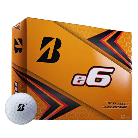 Bridgestone E6 Golf Balls (One Dozen) - White - Golf Country Online