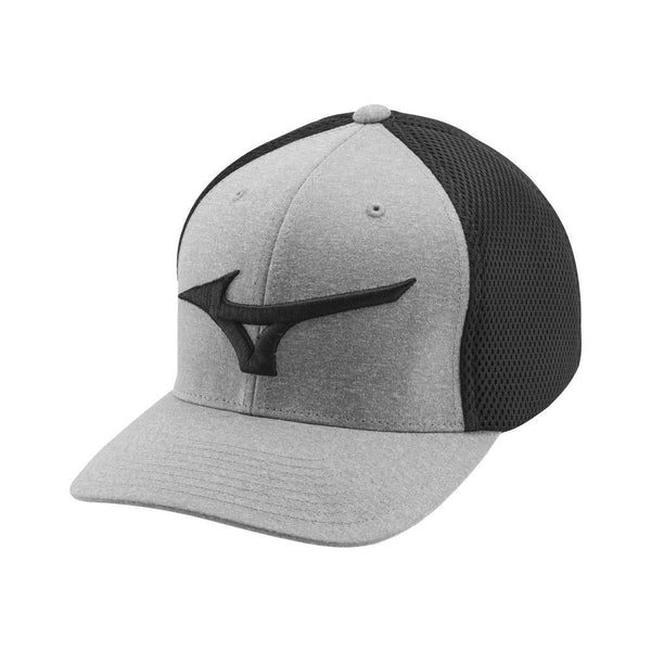 Mizuno Fitted (OFSA) Meshback Golf Hat, Black/Gray - Golf Country Online