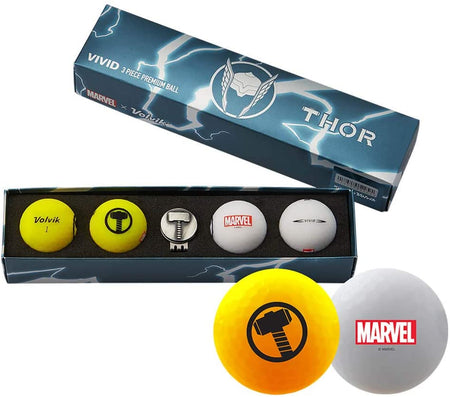 Volvik Vivid Marvel Golf Balls Thor 4-Ball Pack