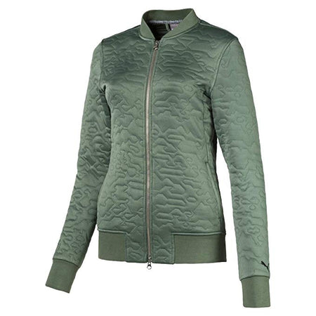 PUMA Golf Women's Camo Bomber Jacket Laurel Wreath