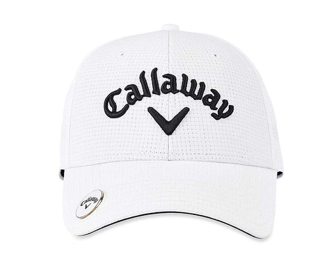 Callaway Golf Stitch Magnet/Ball Marker Hat, White (ADJUSTABLE) - Golf Country Online