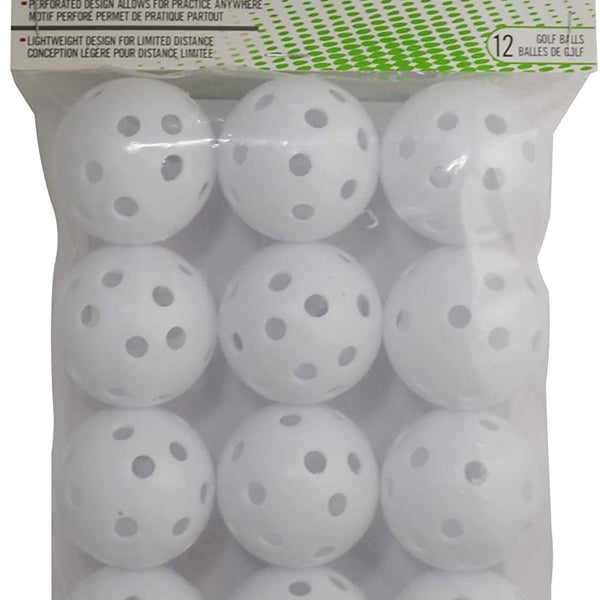 PrideSports Practice Golf Balls, Perforated, 12 Count