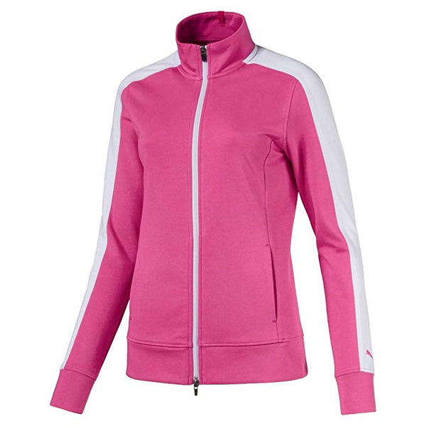 PUMA Golf Women's Track Jacket - Carmine Rose - Golf Country Online