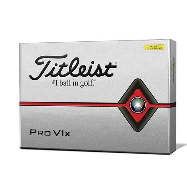 Titleist Pro V1x Golf Balls, Yellow, Standard Play Numbers (1-4), One Dozen - Golf Country Online