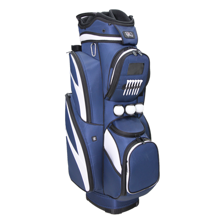 "RJ Sports CR-18 9.5"" Deluxe Cart Bag - Navy/White"
