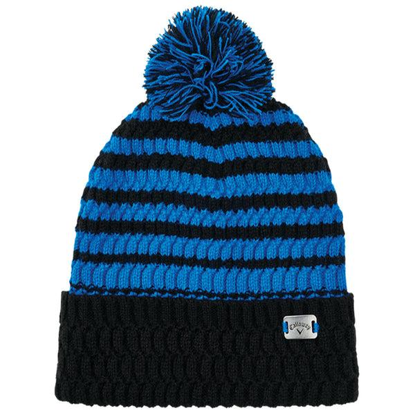 Callaway Golf Pom Pom Beanie -Black/Royal