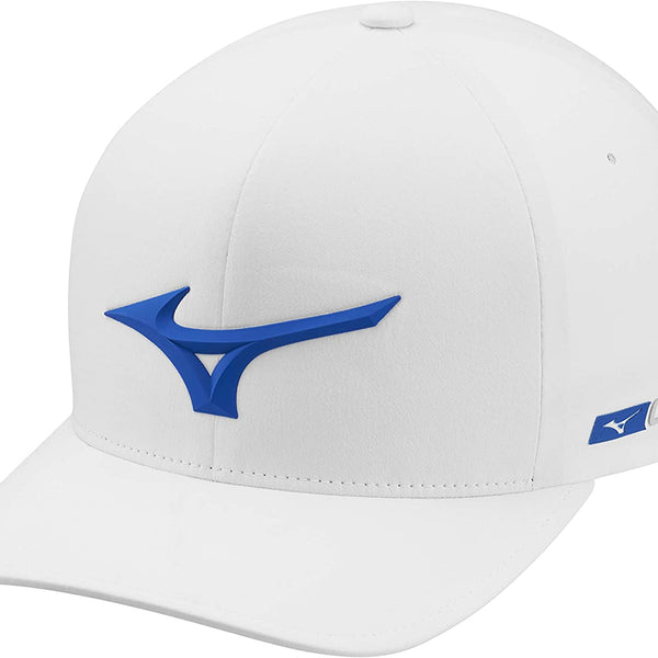 Mizuno Golf Tour Delta Fitted Hat - White/Royal