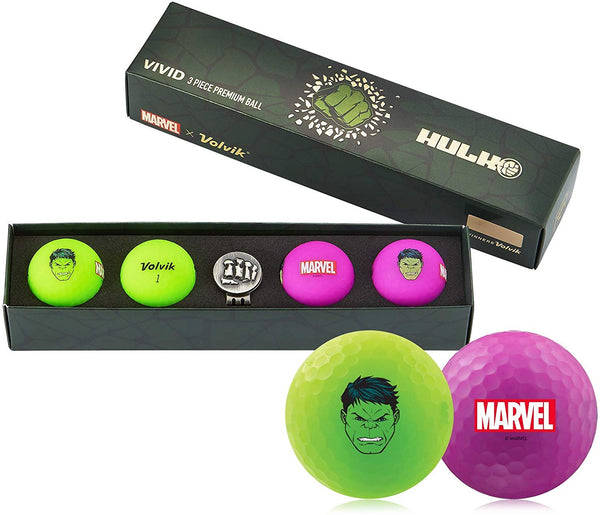 Volvik Vivid Marvel Golf Balls The Hulk 4-Ball Pack - Golf Country Online