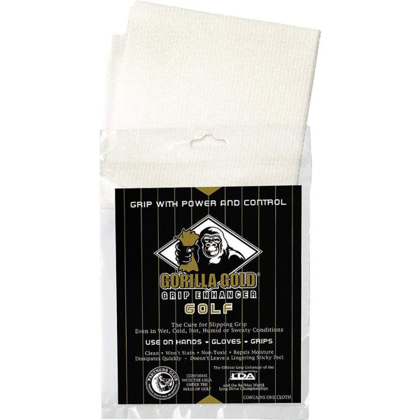 Gorilla Gold Non-Toxic Grip-Enhancing Reusable Towel - Golf Tees & Accessories