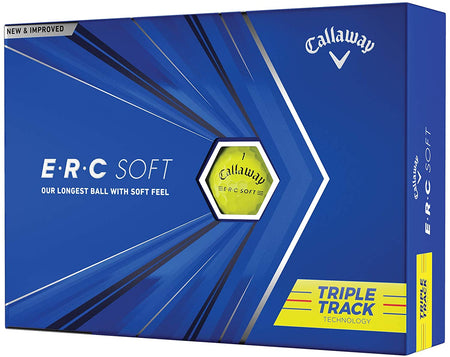 Callaway 2021 ERC Triple Track Golf Balls 12B PK - Yellow