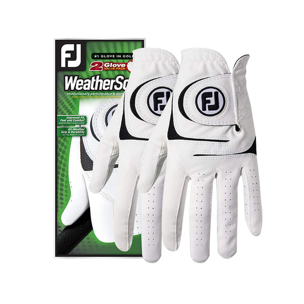 FootJoy Men's WeatherSof 2-Pack Golf Glove - White - Golf Country Online