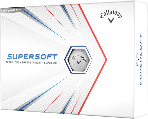 Callaway Supersoft Golf Balls 2021 (One Dozen) - White
