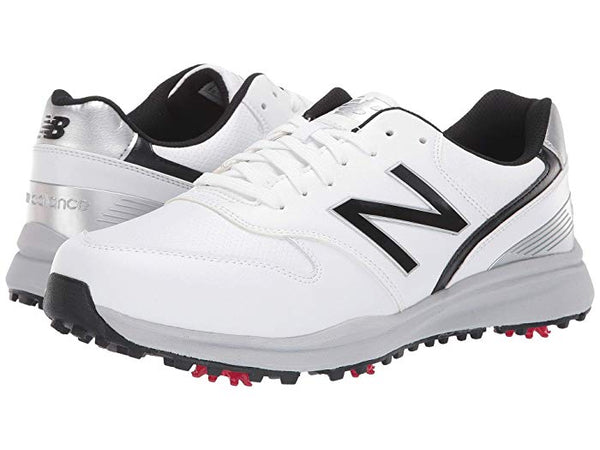New Balance (NBG1800WK) Men's Sweeper Waterproof Spiked Comfort Golf Shoe (White/Black) - Golf Country Online