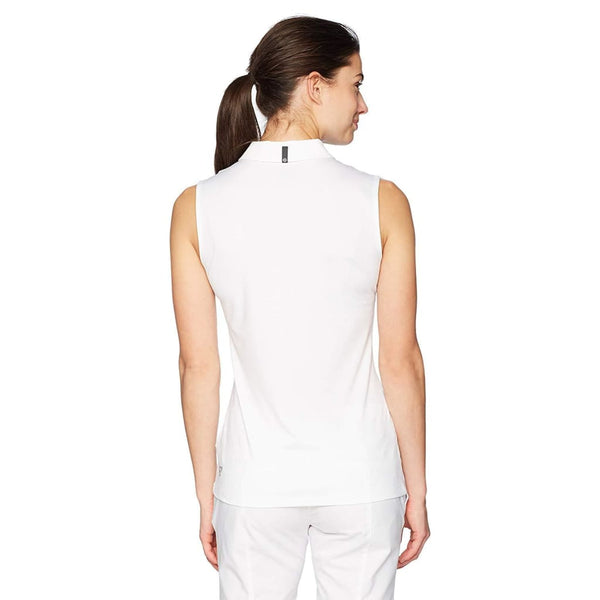 PUMA Golf Women's Sleeveless Sport Polo SHIRT TOP  Bright White/Aquarius - Golf Country Online