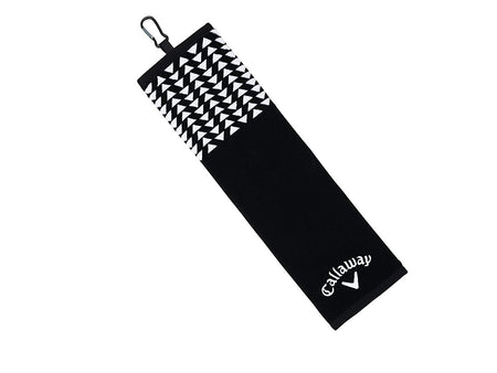 Callaway Golf Women's Uptown Trifold Towel, Black/White - Golf Country Online