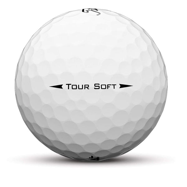 Titleist Tour Soft Golf Balls (One Dozen - White) - Golf Balls