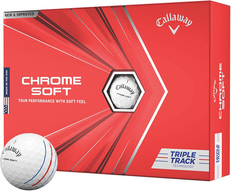 Callaway Chrome Soft Golf Balls (Triple Track White) - Golf Country Online