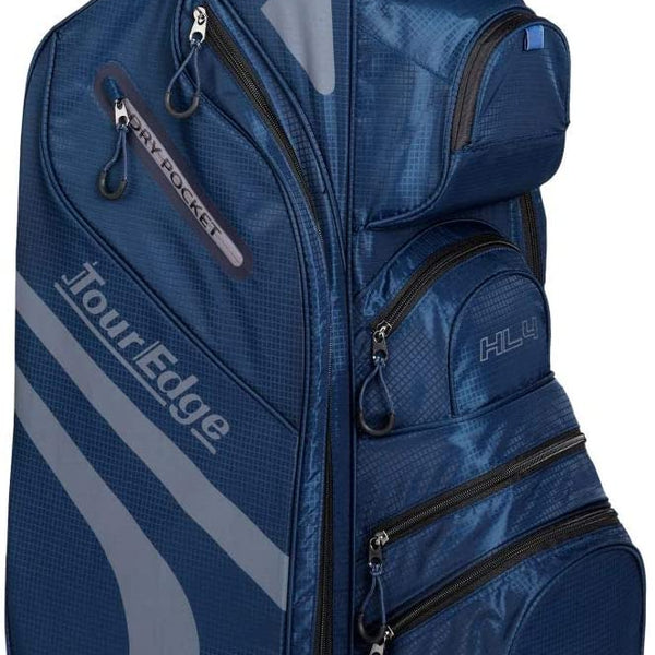 Tour Edge Hot Launch HL4 Golf Cart Bag-Navy/Silver