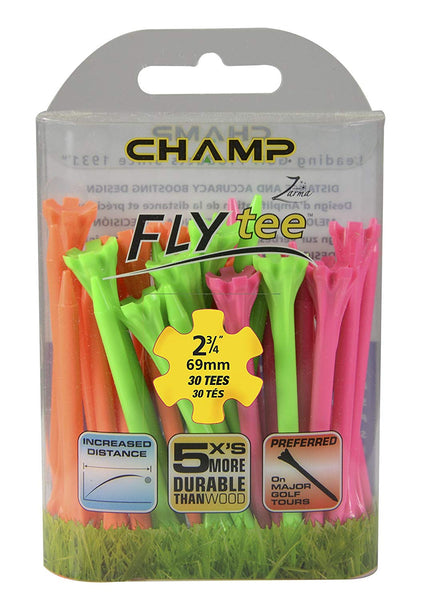 CHAMP Zarma FLYtee, Neon Mixed, 2 3/4-Inch - Golf Country Online