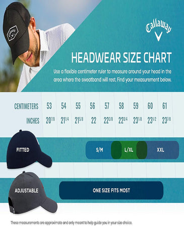 Callaway Golf Stitch Magnet/Ball Marker Hat, Black (ADJUSTABLE) - Golf Country Online