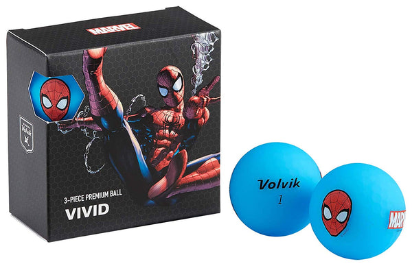 Volvik Vivid Marvel Spider-Man Golf Balls 4 Pack - Golf Country Online