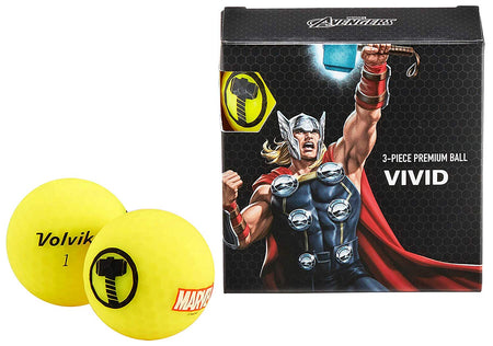 Volvik Vivid Marvel Thor Golf Balls 4 Pack - Golf Country Online