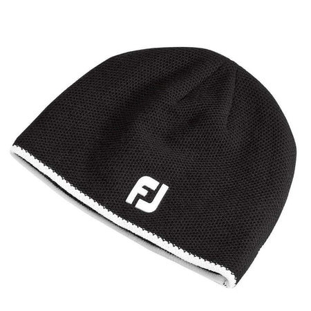 Footjoy Winter Golf Beanie - Black - One Size Fits All - Cold Weather Apparel