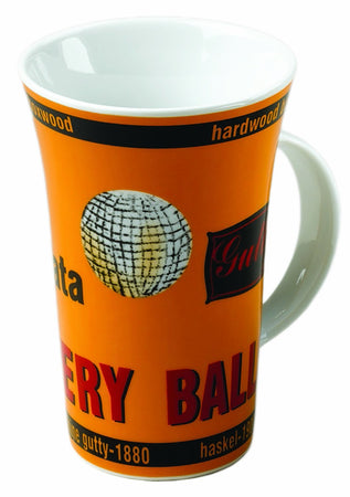 Golf Gifts and Gallery 15th Century Golf Ball Tapered Mug - Golf Country Online