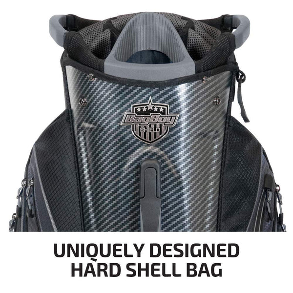 Bag Boy Shield Golf Cart Bag, Carbon Fiber/Black/Charcoal - Golf Country Online