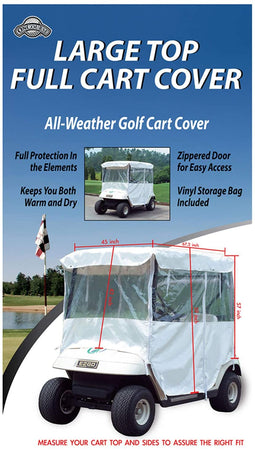OnCourse Large Top White All Weather Full Cart Cover