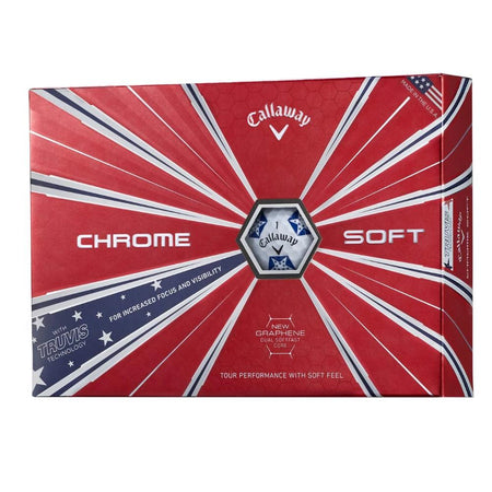 Callaway 2019 Chrome Soft Truvis Golf Balls (Patriotic)(One Dozen) - Golf Country Online