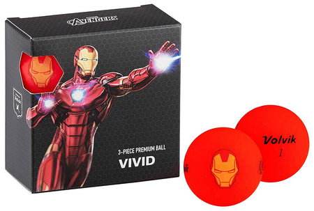 Volvik Vivid Marvel Iron Man Golf Balls 4 Pack - Golf Country Online