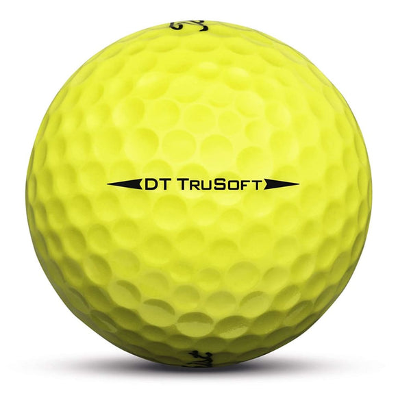 Titleist Dt Trusoft Golf Balls (One Dozen - Yellow) - Golf Balls