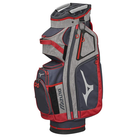 Mizuno BR-D4C Cart Golf Bag, Grey/Red - Golf Country Online