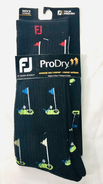 Footjoy ProDry Limited Edition Fashion Crew Golf Flags Fashion Socks Choose Color - Golf Country Online