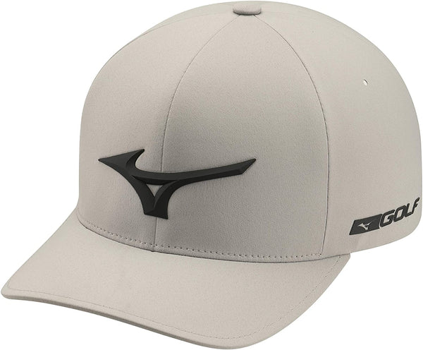 Mizuno Golf Tour Delta Fitted Hat - Grey/Black