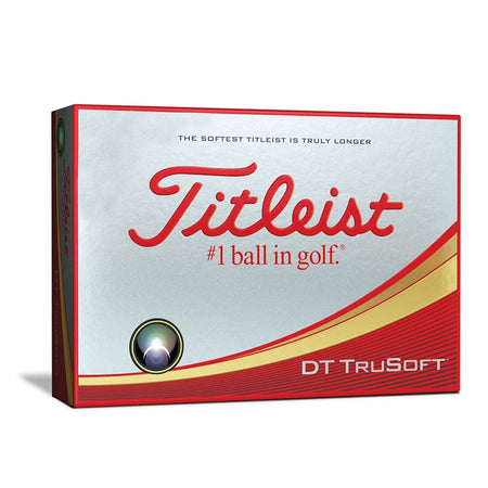 Titleist Dt Trusoft Golf Balls (One Dozen - White) - Golf Balls