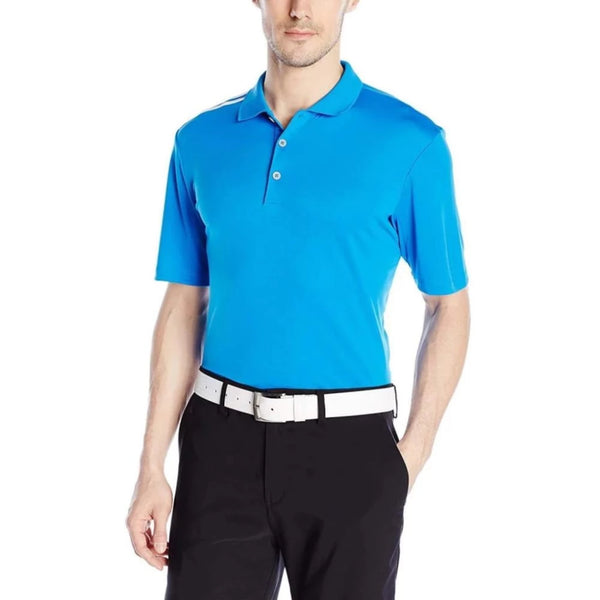 Adidas Golf Men's Climacool 3-Stripes Polo Shirt, Shock Blue/White - Golf Country Online