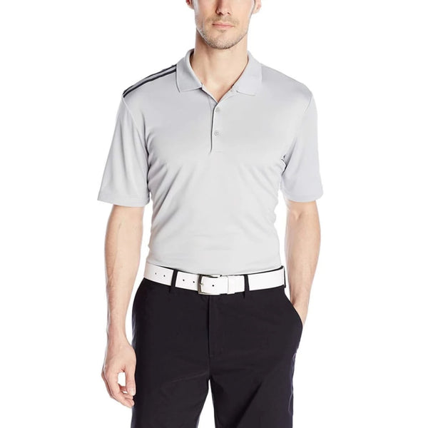 Adidas Golf Mens Climacool 3-Stripes Polo Shirt Stone/black - Apparel - Tops