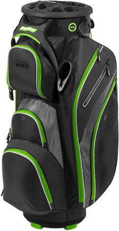 Bag Boy Golf Cart Revolver XP 2021 Bag, Black/Charcoal/Lime