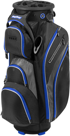Bag Boy Golf Cart Revolver XP 2021 Bag, Black/Charcoal/Royal
