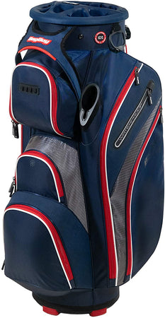 Bag Boy Golf Cart Revolver XP 2021 Bag, Navy/Charcoal/Red